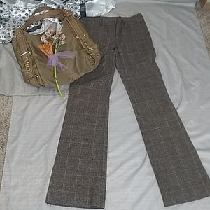 BODY BY VS low bootcut plaid career pants size 0